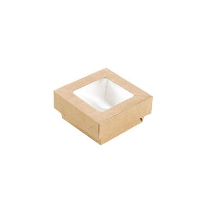 Boîte 'Kray' carton brun avec couvercle 8,5 x 8,5 cm 20 cl Par 25
