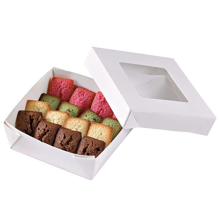 Boîte 'Kray' carton blanc avec couvercle 11,5 x 11,5 cm 35 cl Par 25