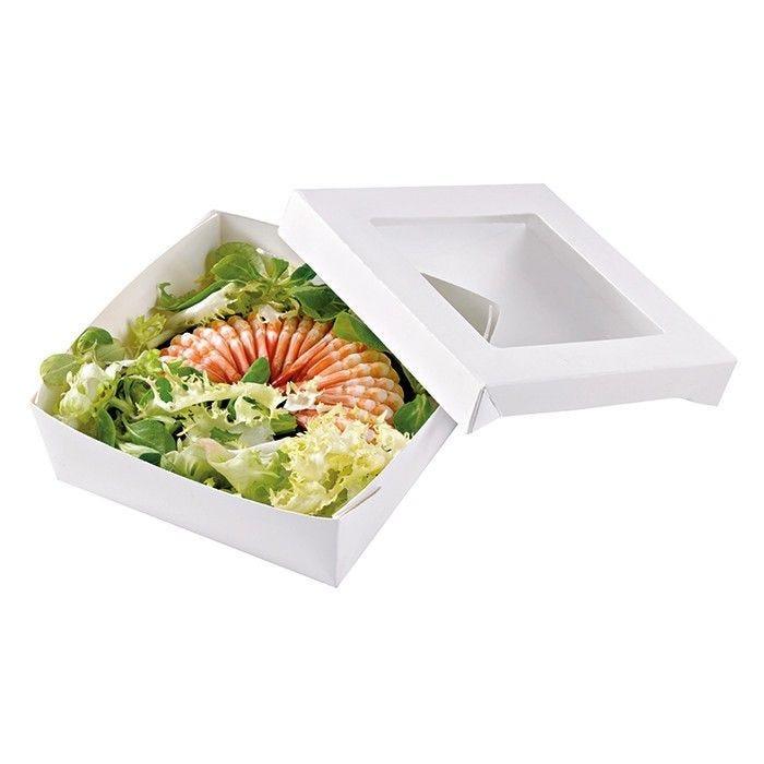 Boîte 'Kray' carton blanc avec couvercle 13,5 x 13,5 cm 50 cl Par 25
