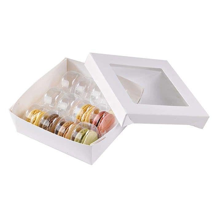 Boîte 'Kray' carton blanc avec couvercle 15,5 x 15,5 cm 70 cl Par 25