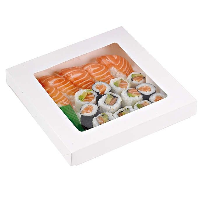 Boîte 'Kray' carton blanc avec couvercle 20,5 x 20,5 cm 100 cl Par 50