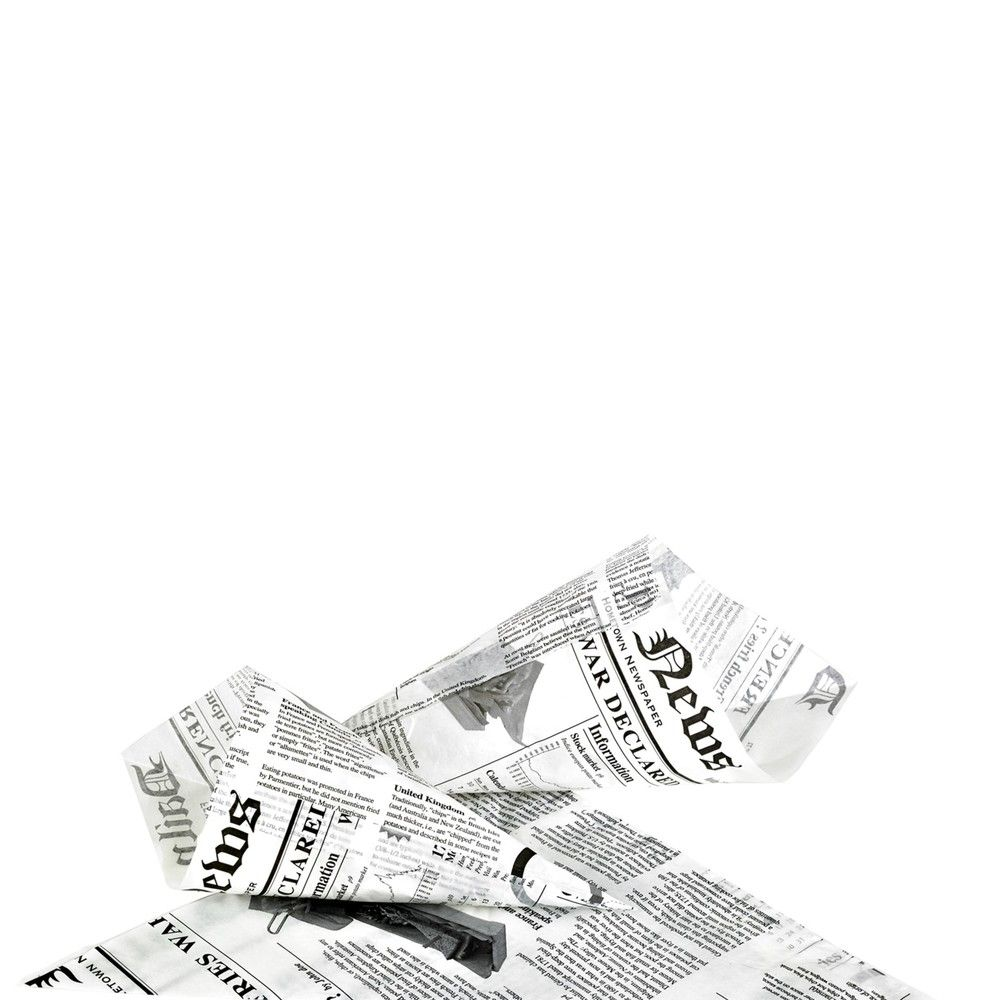 Cône papier ingraissable décor journal 1,9g Par 1000 unités