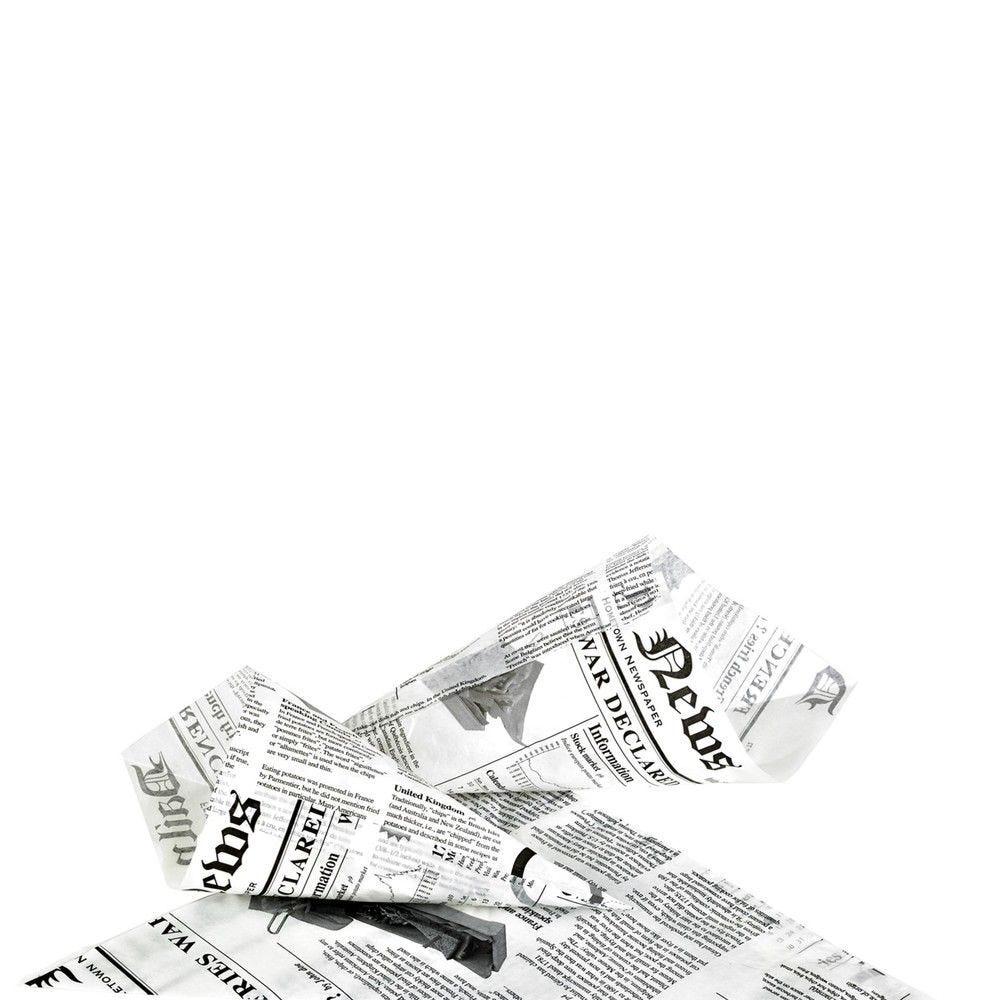 Cône papier ingraissable décor journal 3,4g Par 1000 unités