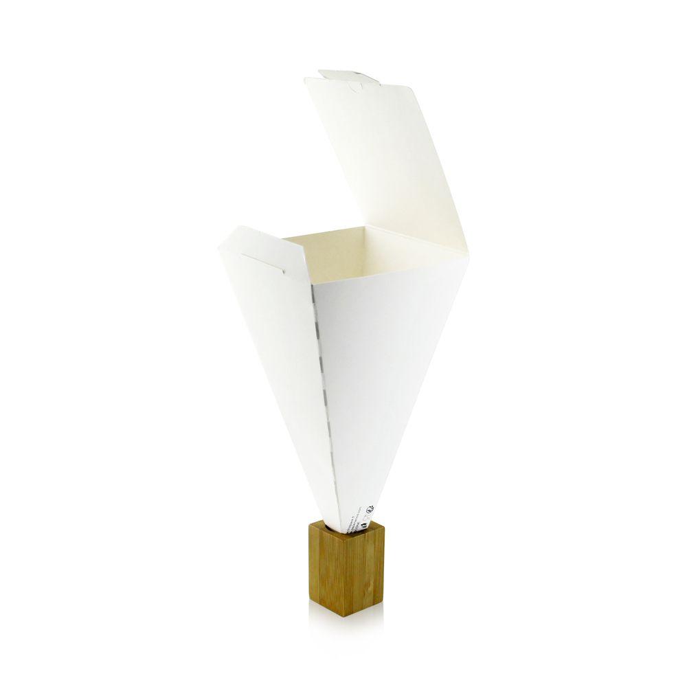 Cône snack refermable carton blanc 11g Par 25 unités
