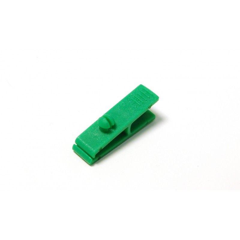 Pince crocodile sans lanière (lot de 100) - Vert - Lot de 100