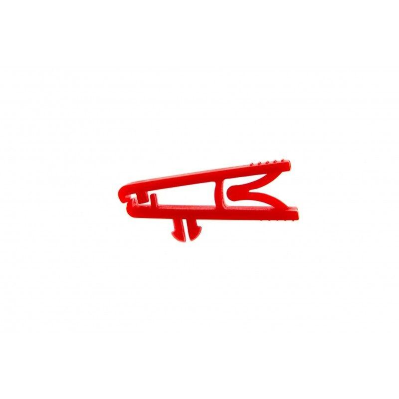 Pince crocodile sans lanière (lot de 100) - Rouge - Lot de 100