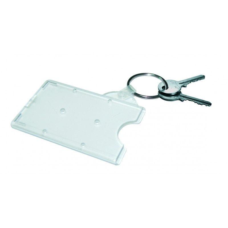 Porte-badge avec anneau porte clés (lot de 100)