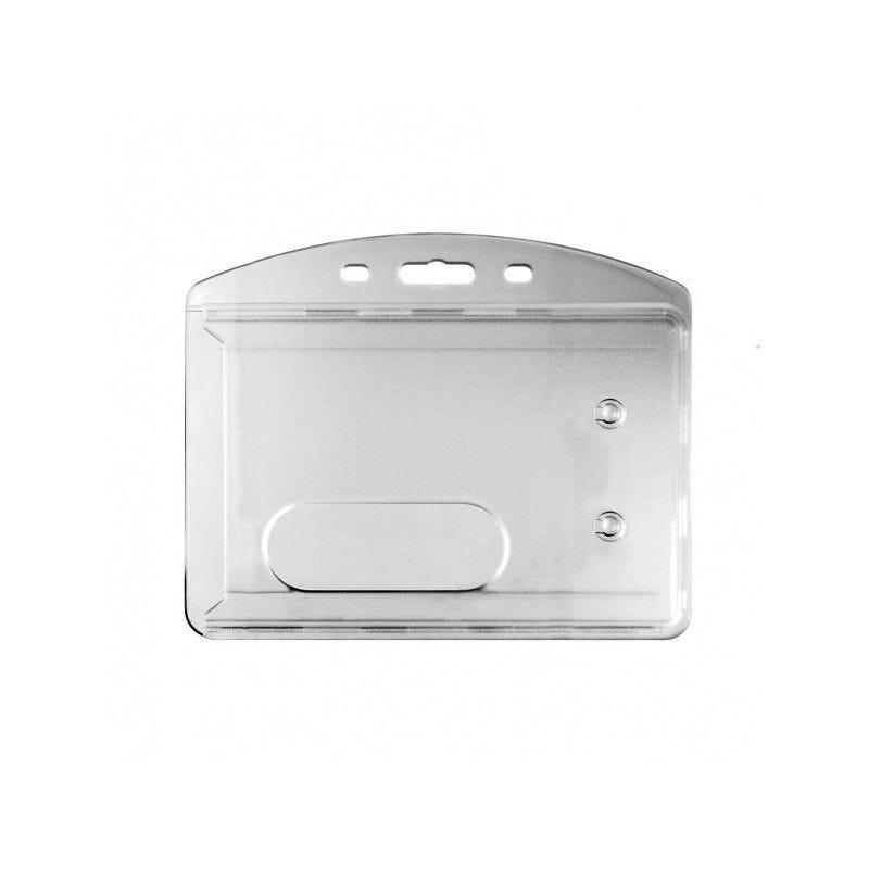 Porte badge cristal/dépoli - Horizontal (lot de 100)