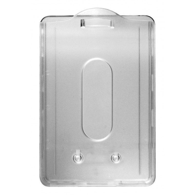 Porte badge cristal/dépoli - Vertical (lot de 100)