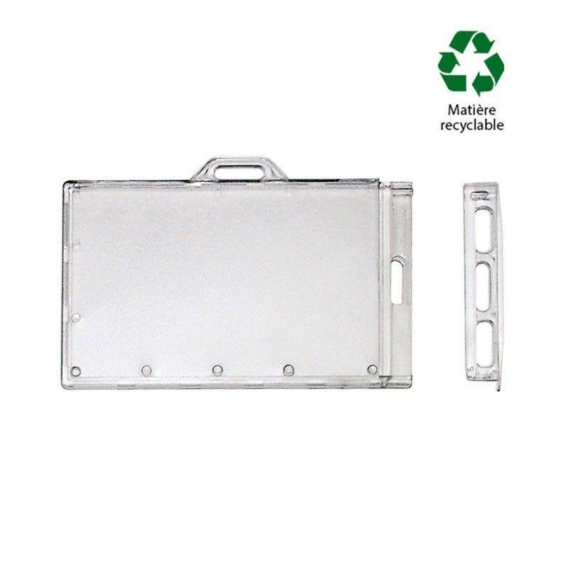 Porte-badge à glissière - double position : horizontale et verticale-(lot de 100