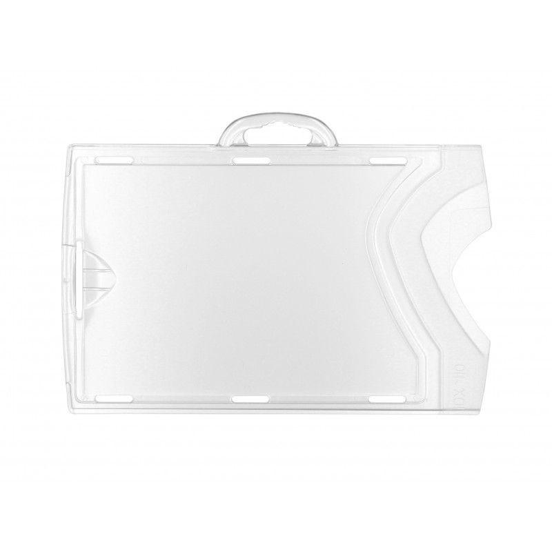 Porte-badge transparent (recto/verso) IDX - Horizontal (lot de 100)