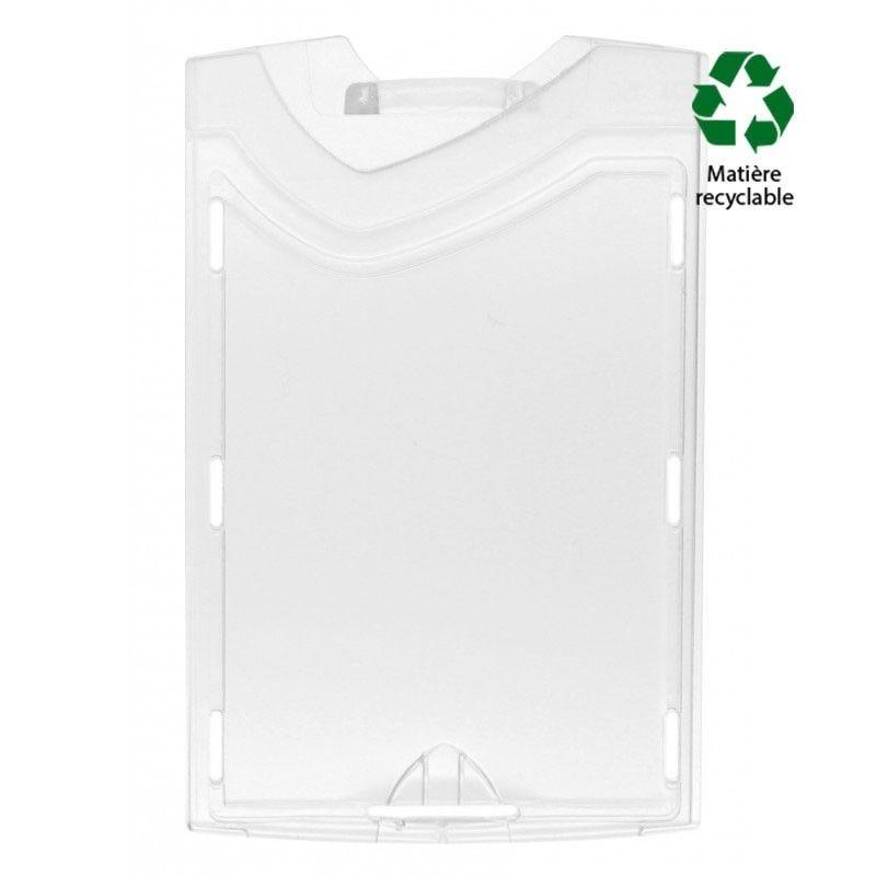 Porte-badge transparent (recto/verso) IDX - Vertical (lot de 100)