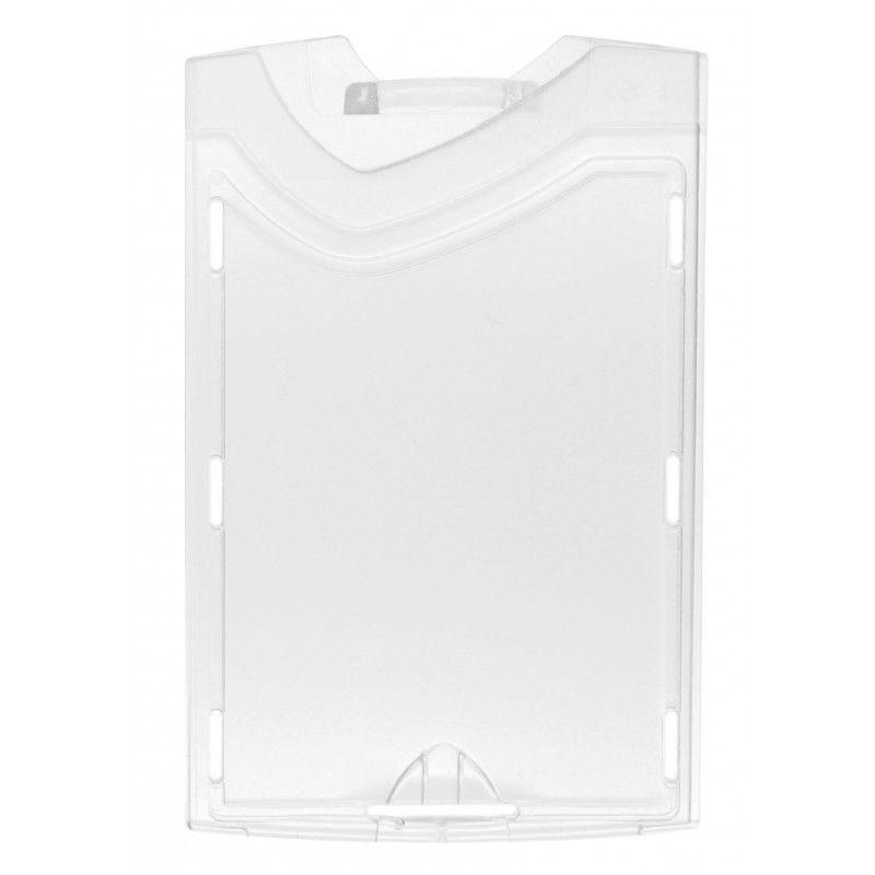 Porte badge IDX- cristal/dépoli - Vertical (lot de 100)