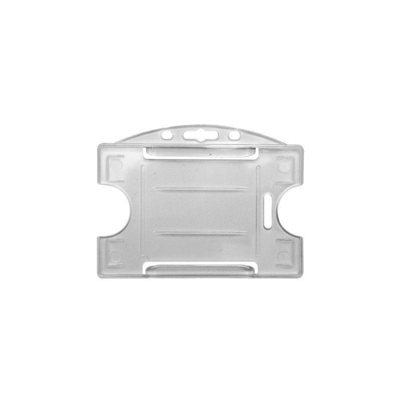 Porte-badge pour 1 carte - Modèle horizontal - Translucide (lot de 100)
