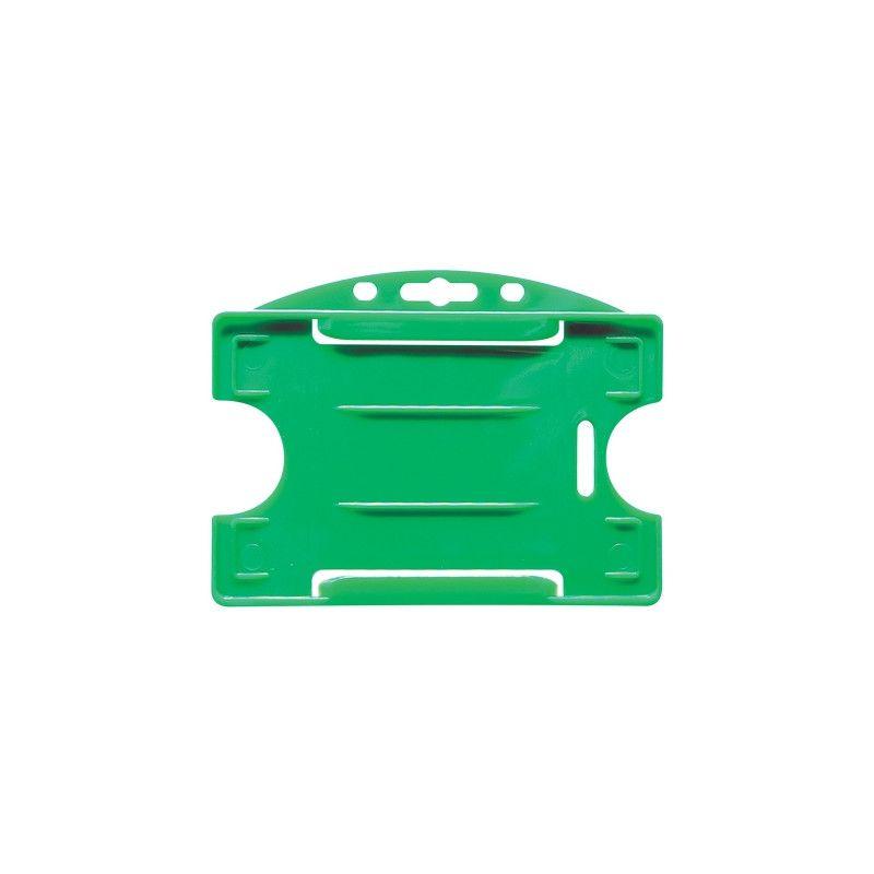 Porte-badge pour 1 carte - Modèle horizontal - Vert (lot de 100)