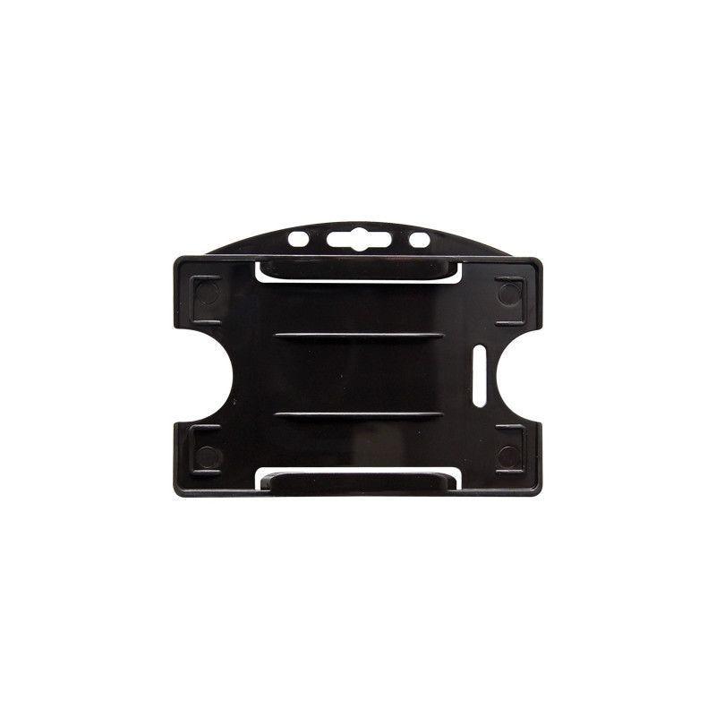 Porte-badge pour 1 carte - Modèle horizontal - Noir (lot de 100)