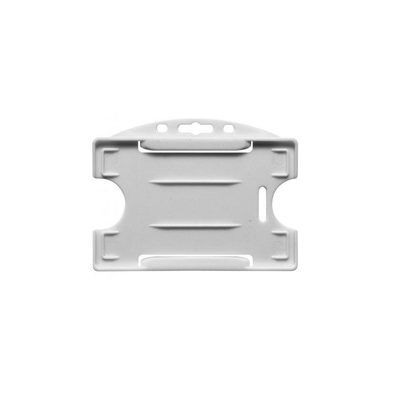 Porte-badge pour 1 carte - Modèle horizontal - Blanc (lot de 100)