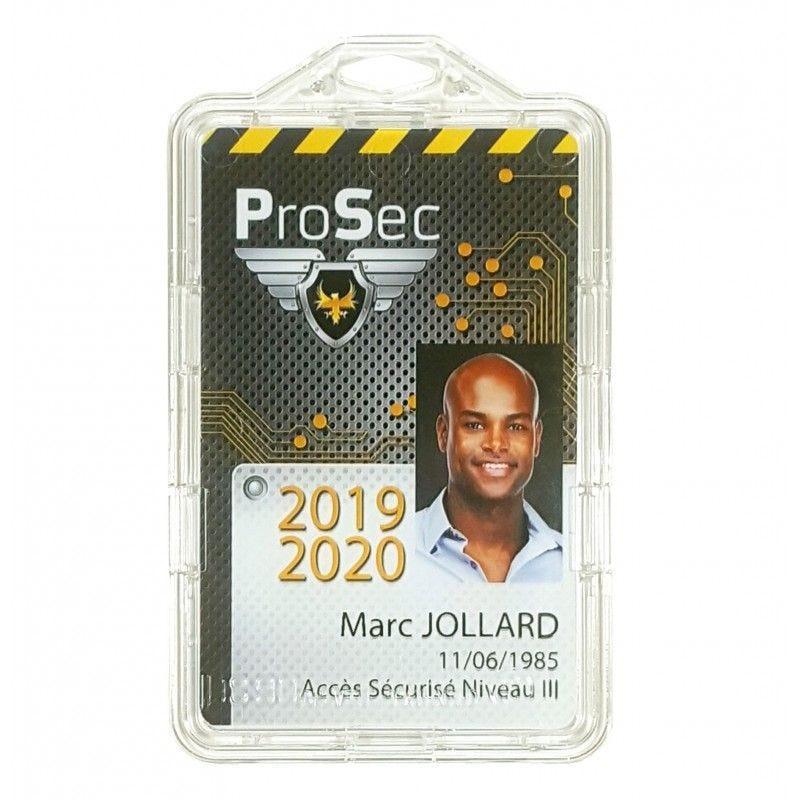 Porte badge sécuritaire éco-responsable - IDS90-ECO - Vertical (lot de 100)
