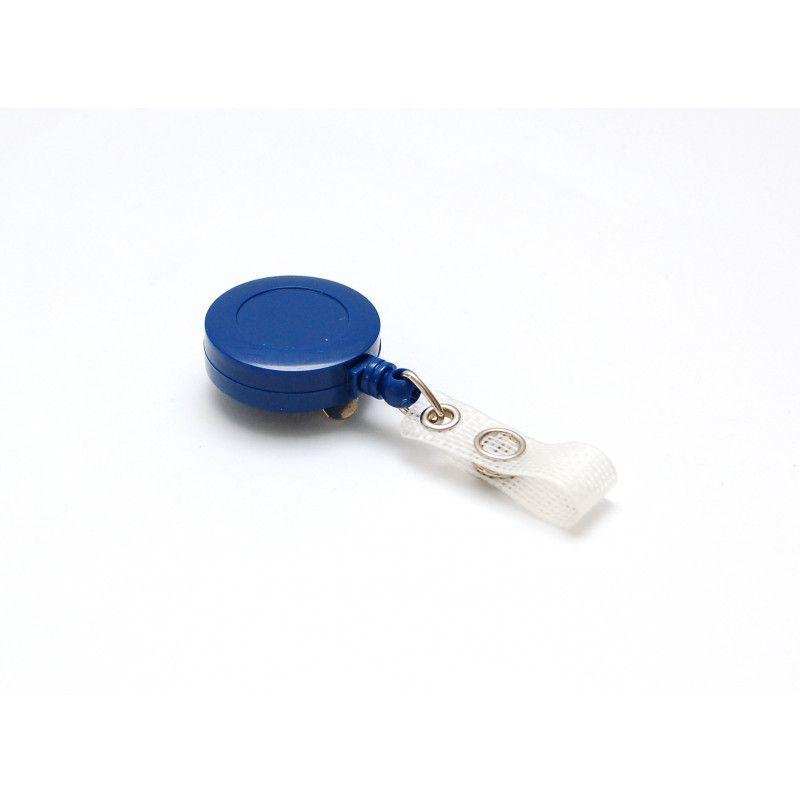 Enrouleur badge plastique couleur - Bleu foncé (lot de 100)