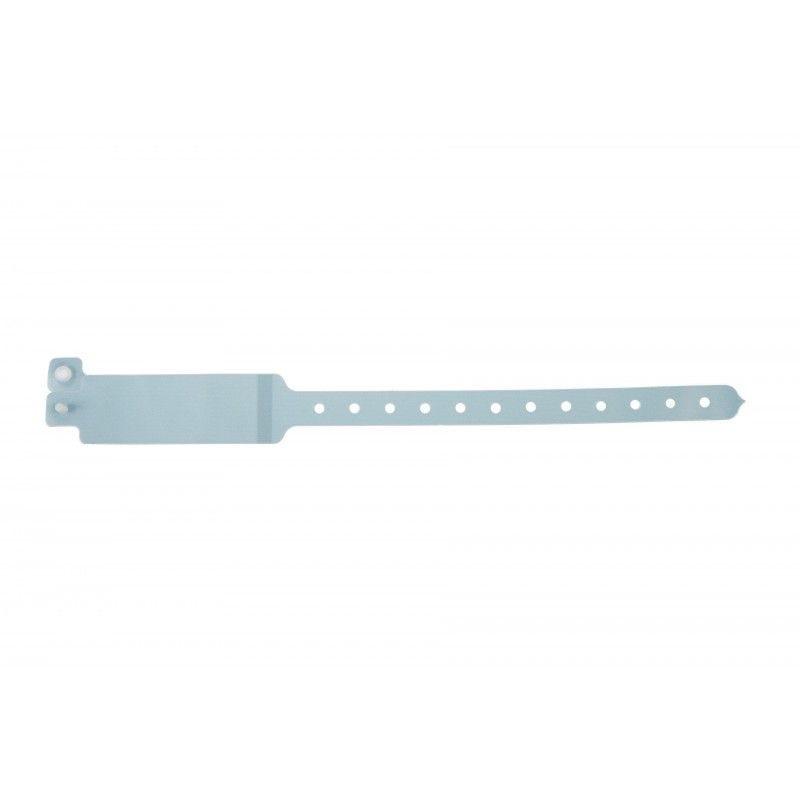Bracelet hôpital avec étiquette - Taille adulte - Bleu pâle (lot de 100)