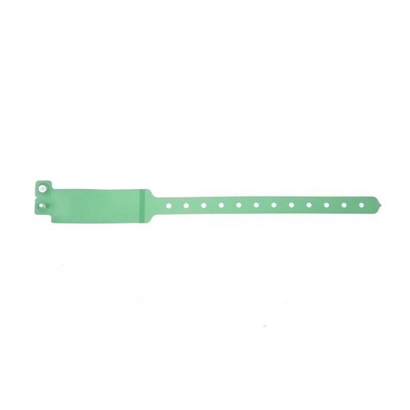 Bracelet hôpital avec étiquette - Taille adulte - Vert pâle (lot de 100)