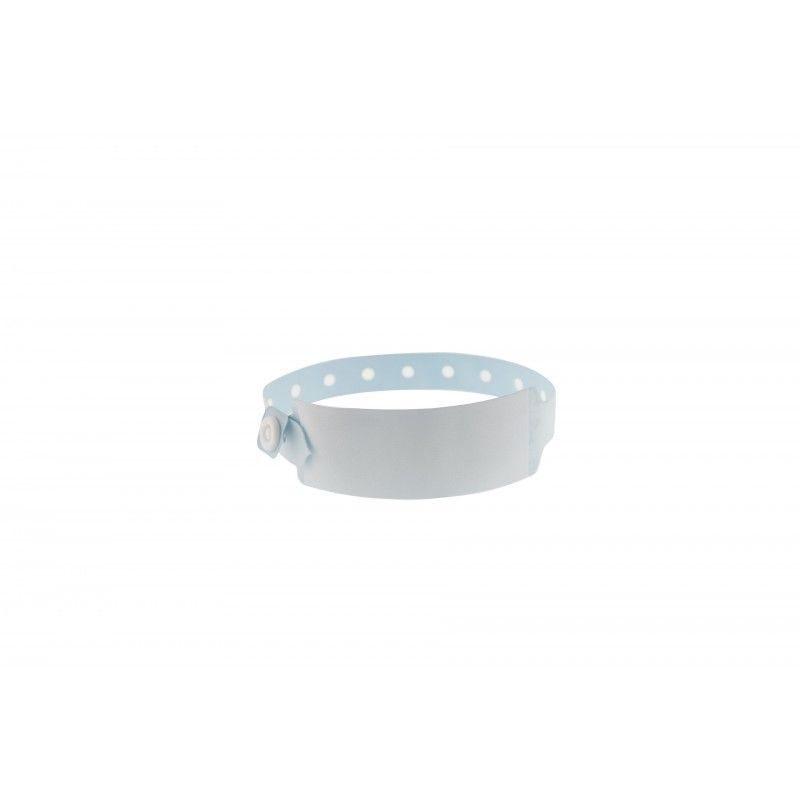 Bracelet hôpital avec panneau d'écriture - Taille adulte - Bleu pâle -lot de 100