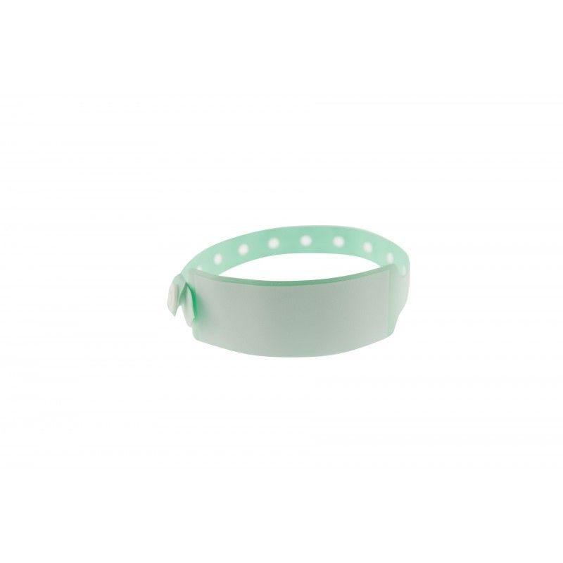 Bracelet hôpital avec panneau d'écriture - Taille adulte - Vert pâle-lot de 100
