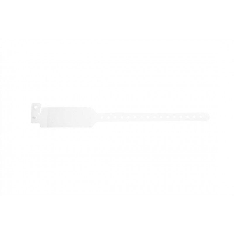 Bracelet hôpital avec rabat pour étiquette - adulte - Translucide (lot de 100)