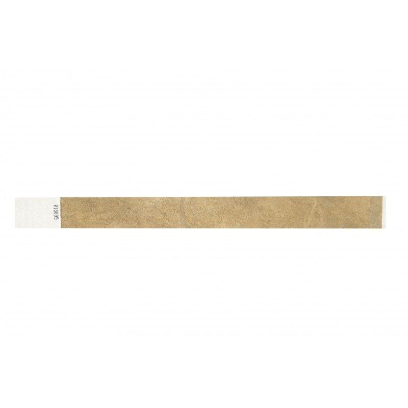 Bracelets 19mm papier indéchirable Tyvek - Or (lot de 100)