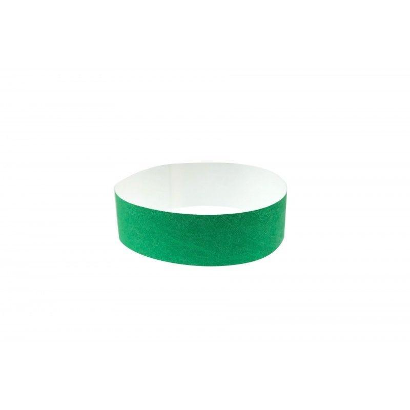 Bracelets 19mm papier indéchirable Tyvek - Vert - lot de 100