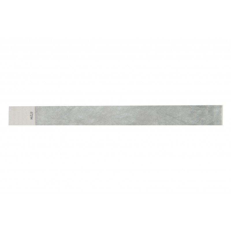 Bracelets 19mm papier indéchirable Tyvek - Argent - lot de 100