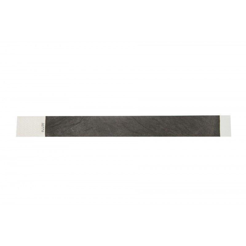 Bracelets 19mm papier indéchirable Tyvek - Noir- lot de 100