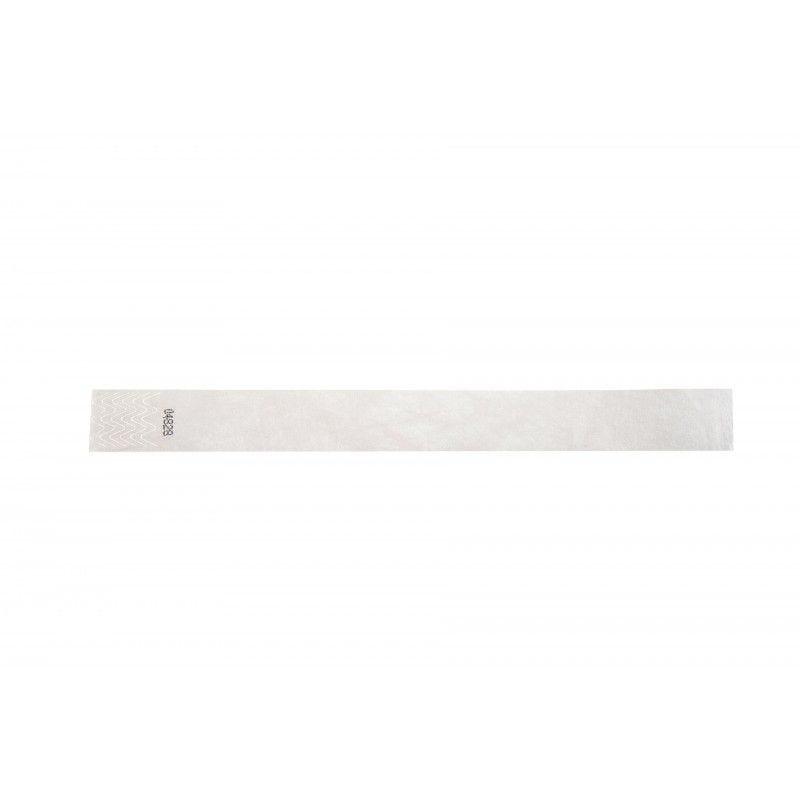 Bracelets 19mm papier indéchirable Tyvek - Blanc - lot de 100