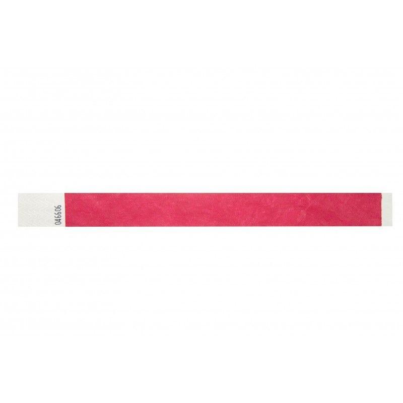 Bracelets 19mm papier indéchirable Tyvek - Rouge - lot de 100
