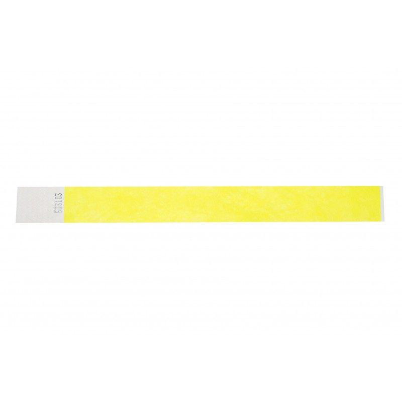 Bracelets 19mm papier indéchirable Tyvek - Jaune - lot de 100