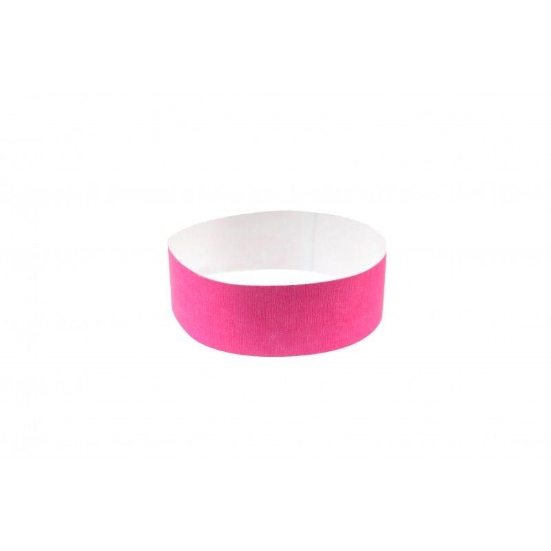 Bracelets 19mm papier indéchirable Tyvek - Rose fluo - lot de 100
