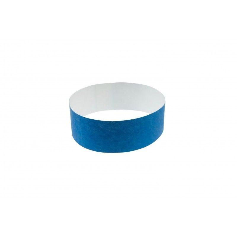 Bracelets 19mm papier indéchirable Tyvek - Bleu roi - lot de 100