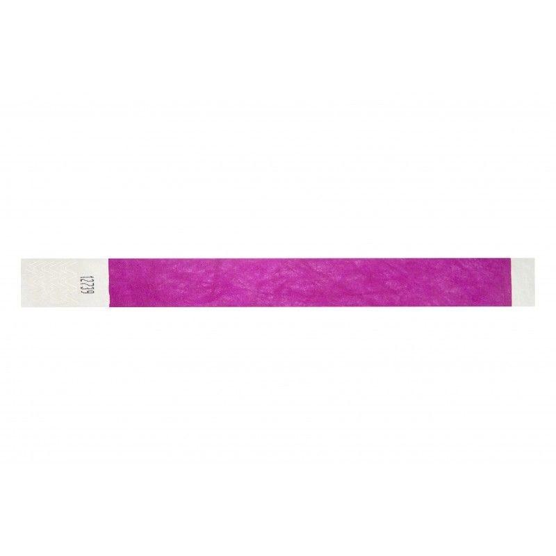 Bracelets 19mm papier indéchirable Tyvek - Violet - lot de 100