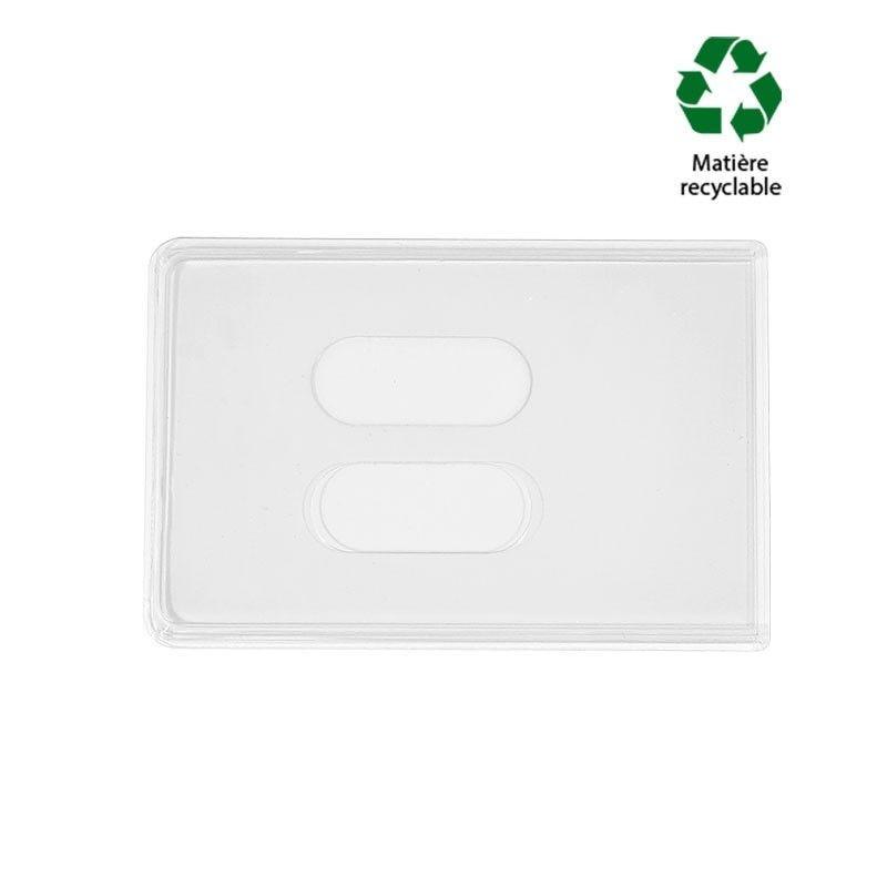 Etui-carte PVC pour 2 cartes (lot de 100)