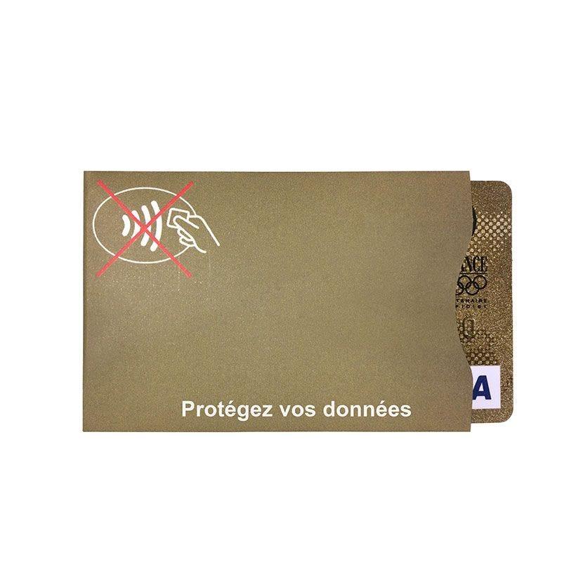 IDP protect - étui-carte souple anti RFID - Or - Français (lot de 100)