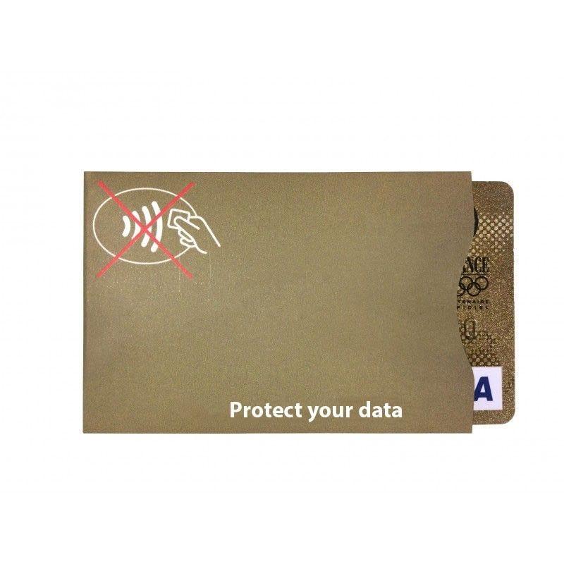 IDP protect - étui-carte souple anti RFID - Or - Anglais (lot de 100)