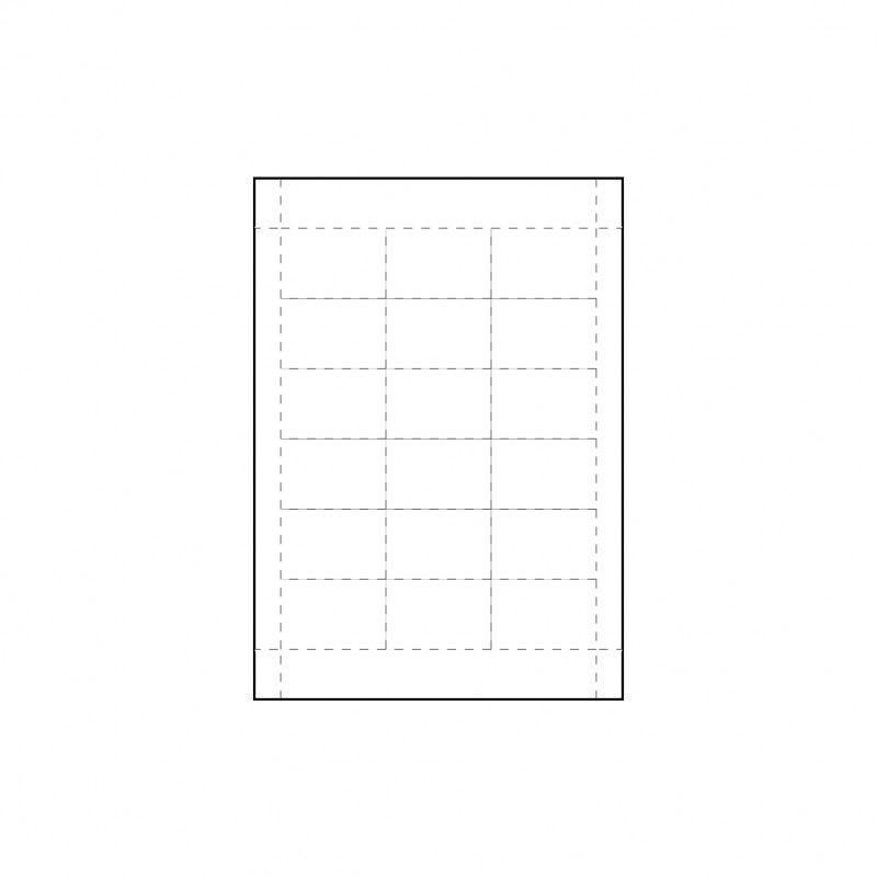 Inserts pour badges conférence 60 x 40 mm - Lot de 100