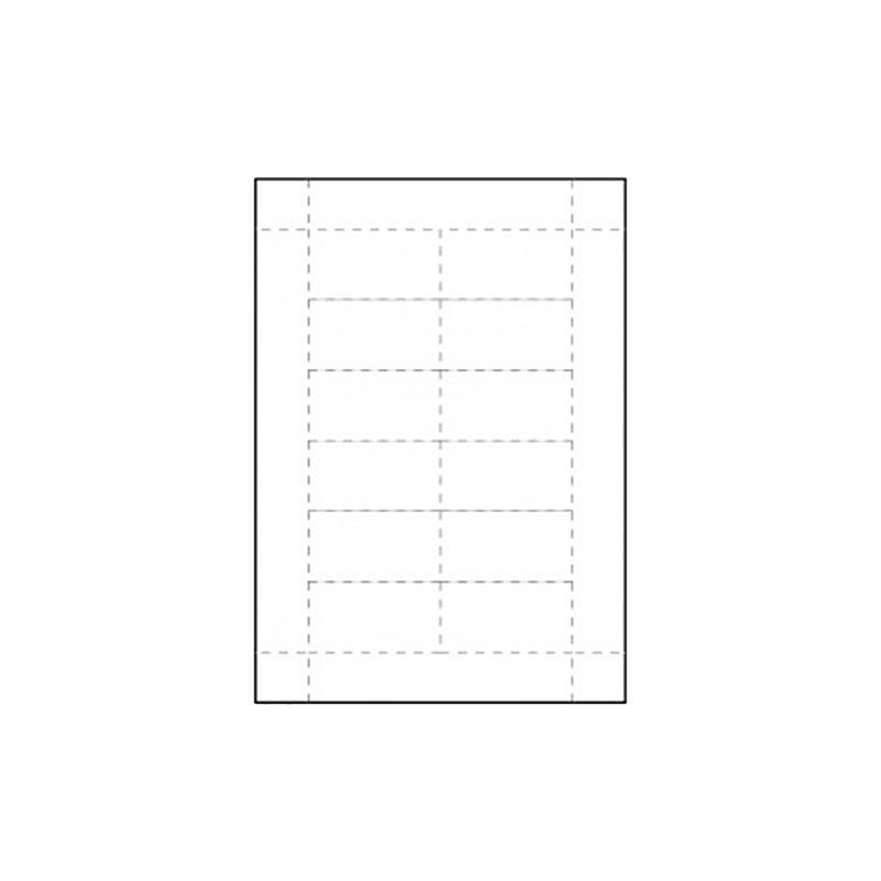 Inserts pour badges conférence 75 x 40 mm - Lot de 100