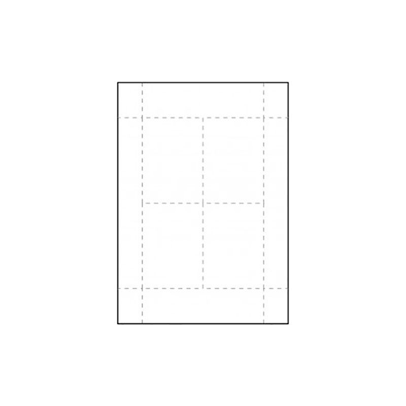 Inserts pour badges conférence 102 x 77 mm - Lot de 100