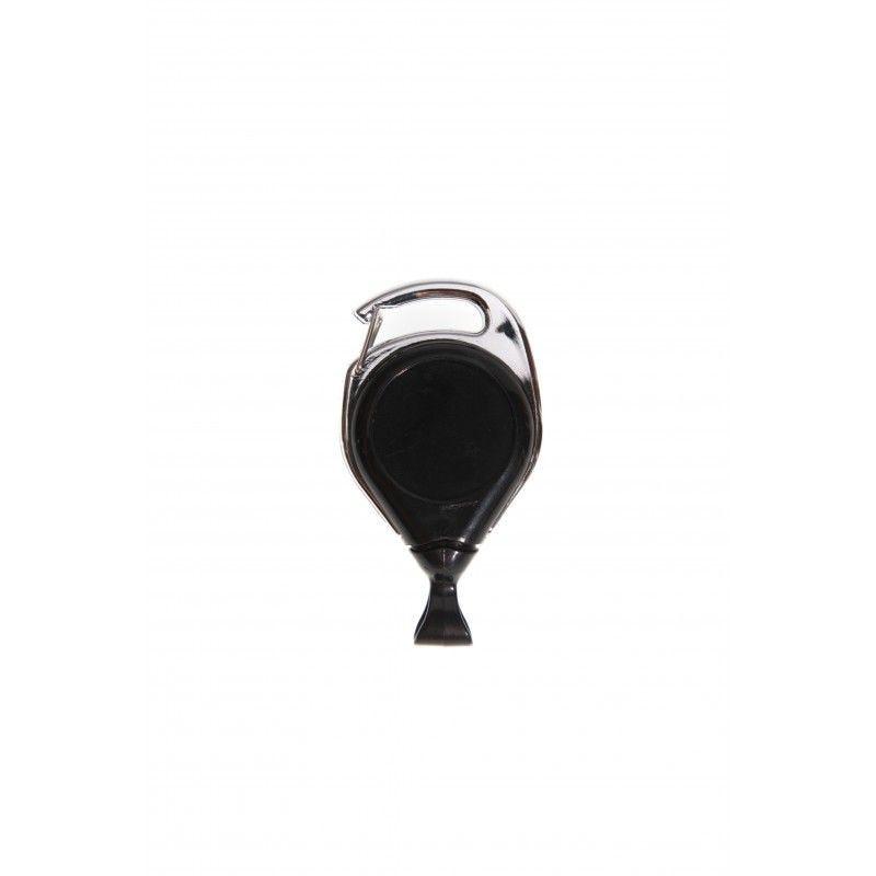 Enrouleur double fixation avec attache anti-rotation - Noir (lot de 100)