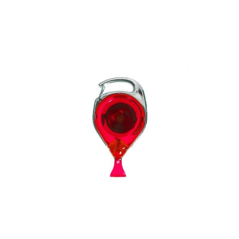 Enrouleur double fixation avec attache anti-rotation - Rouge (lot de 100)