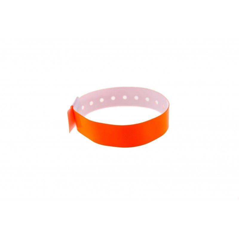 Bracelets événementiels plastique vinyle Type L - Brillant - Orange (lot de 100)