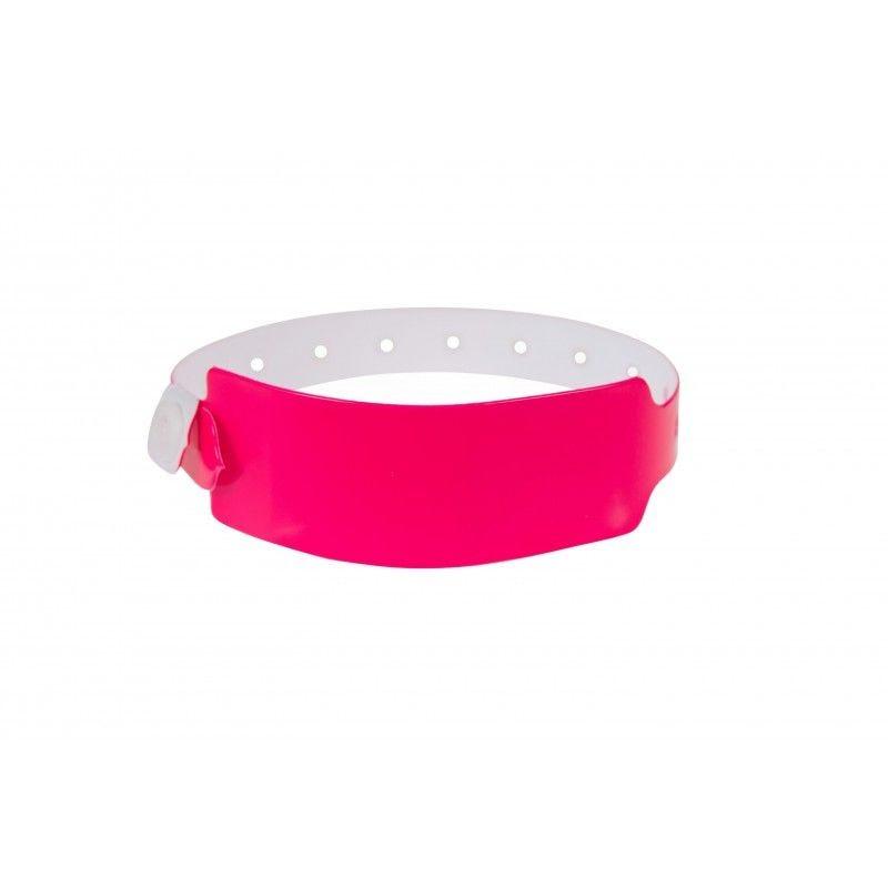 Bracelets événementiels plastique vinyle Extra-large - Mat - Rose (lot de 100)