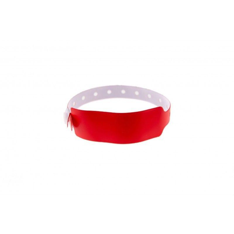 Bracelets événementiels plastique vinyle Extra-large - Mat - Rouge (lot de 100)
