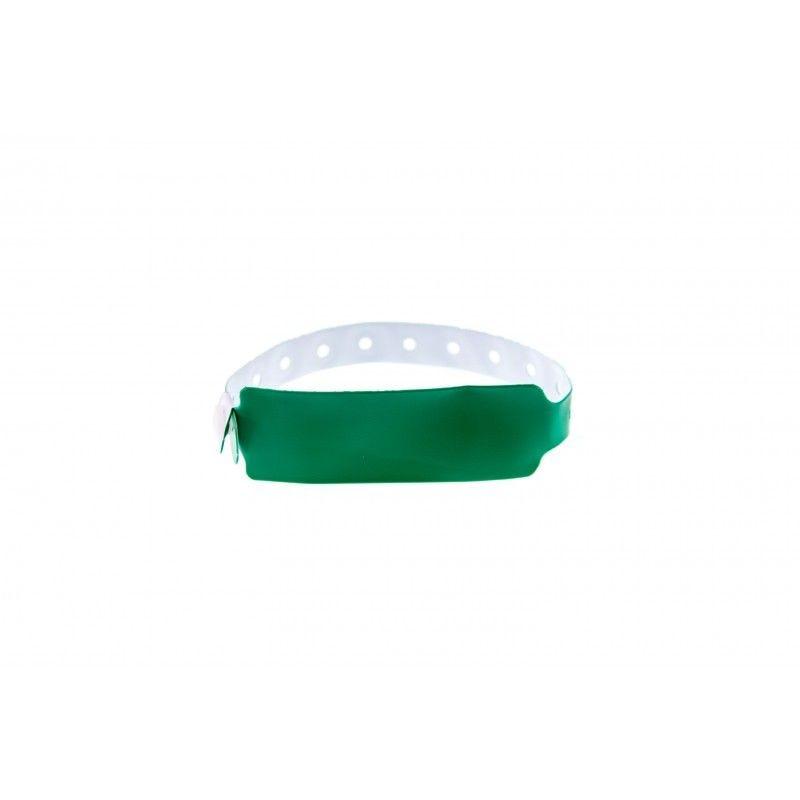 Bracelets événementiels plastique vinyle Extra-large - Mat - Vert (lot de 100)